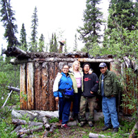 elders at old cabin